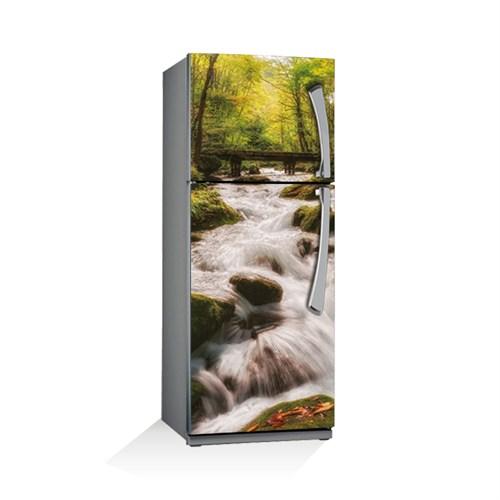 Artikel Ormanda Şelale Buzdolabı Stickerı Bs-036