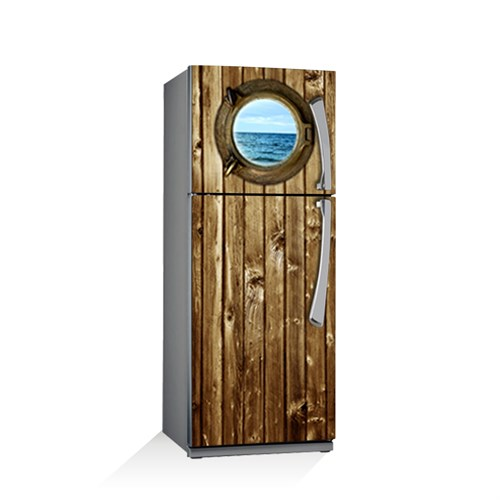 Artikel Ahşap Gemi Kapısı Buzdolabı Stickerı Bs-105