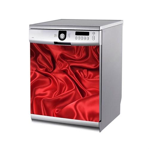 Artikel Kırmızı Saten Kumaş Bulaşık Makinası Stickerı Bs-129