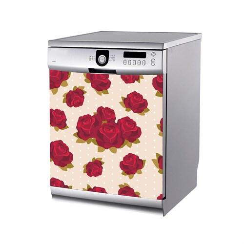 Artikel Gül Deseni-1 Bulaşık Makinası Stickerı Bs-141