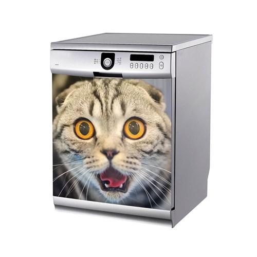 Artikel Şaşkın Kedi Bulaşık Makinası Stickerı Bs-144