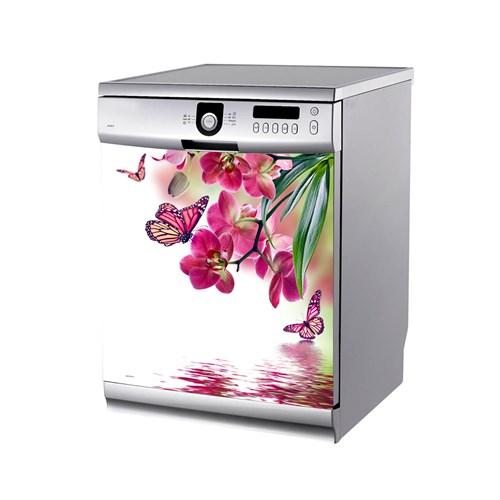 Artikel Pembe Çiçekler Bulaşık Makinası Stickerı Bs-149