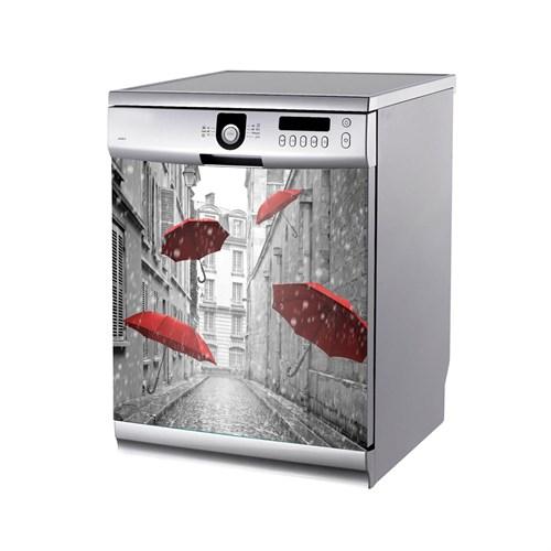 Artikel Kırmızı Şemsiye Bulaşık Makinası Stickerı Bs-152