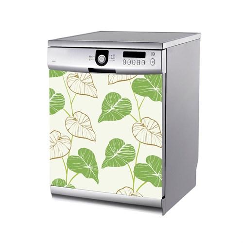 Artikel Yaprak Desenleri Bulaşık Makinası Stickerı Bs-174