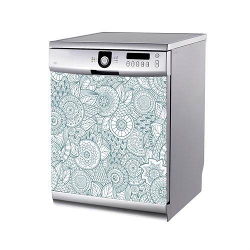 Artikel Çiçek Desenleri-1 Bulaşık Makinası Stickerı Bs-178