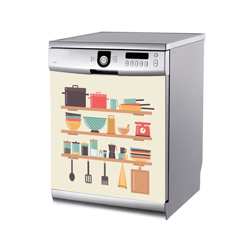 Artikel Mutfak Rafları Bulaşık Makinası Stickerı Bs-186