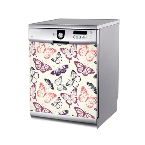 Artikel Renkli Kelebekler Bulaşık Makinası Stickerı Bs-188