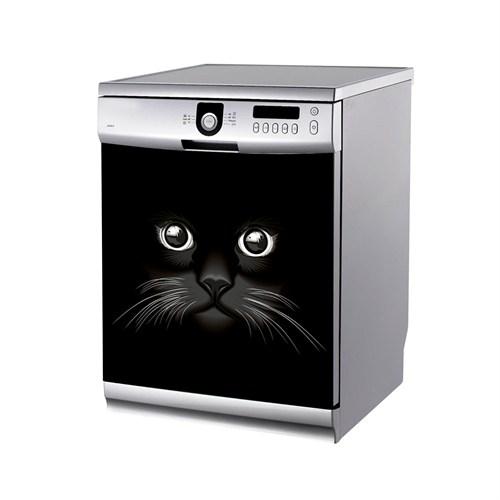 Artikel Kara Kedi Bulaşık Makinası Stickerı Bs-190