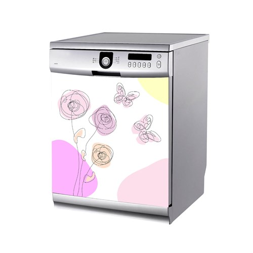 Artikel Çizgiler Bulaşık Makinası Stickerı Bs-192