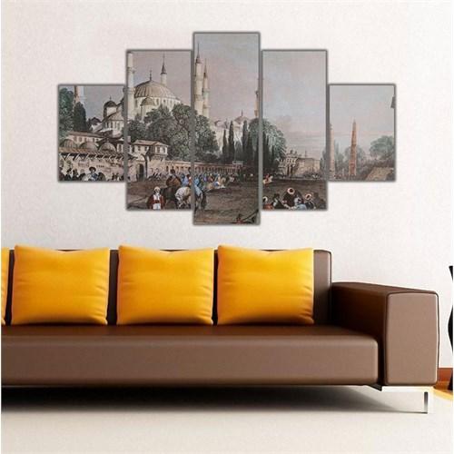 Ritmo Canvas Renkli İstanbul Gravür Canvas Tablo