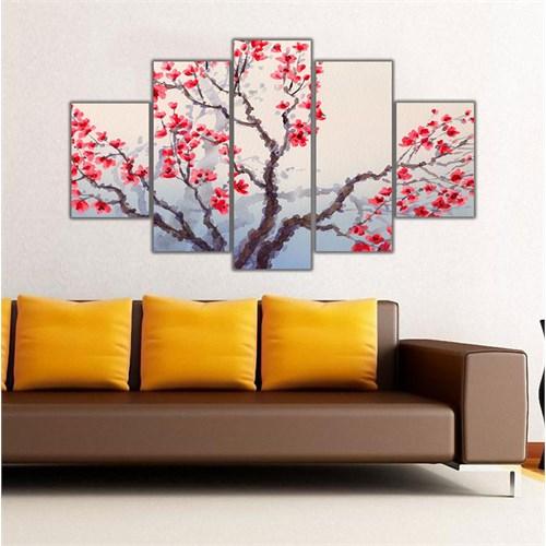 Ritmo Canvas Kırmızı Çiçekler Canvas Tablo