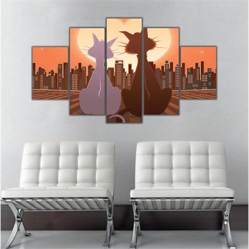 Ritmo Canvas Kedi Ve Şehir Canvas Tablo
