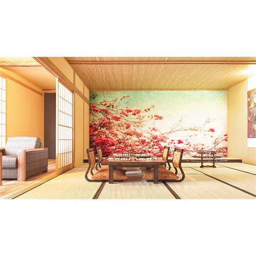 Iwall Resimli Çiçekler Duvar Kağıdı 250X180