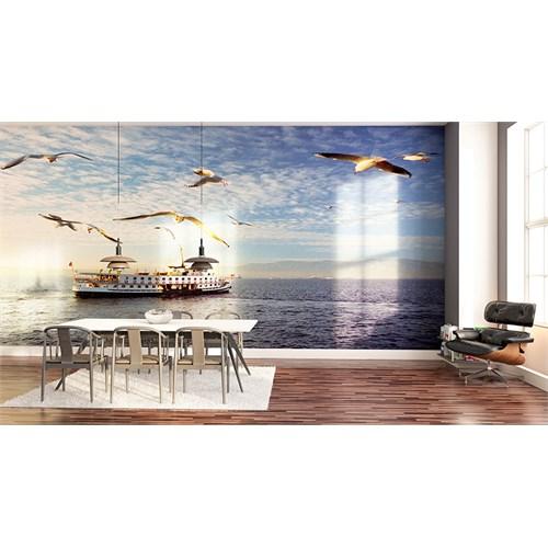 Iwall Resimli Deniz Ve Martılar Duvar Kağıdı 180X130
