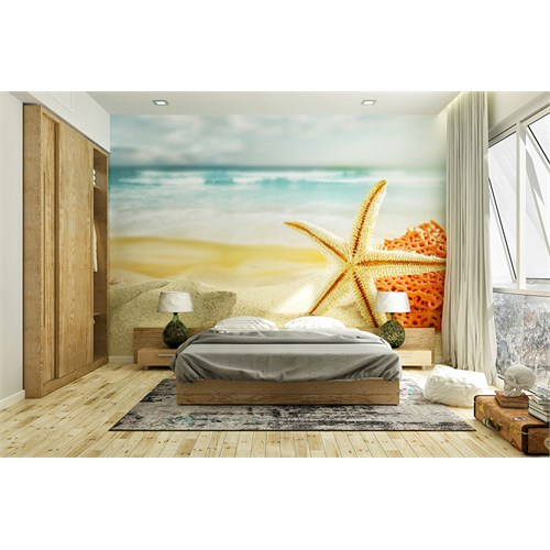 Iwall Resimli Deniz Yıldızı Duvar Kağıdı 370-250