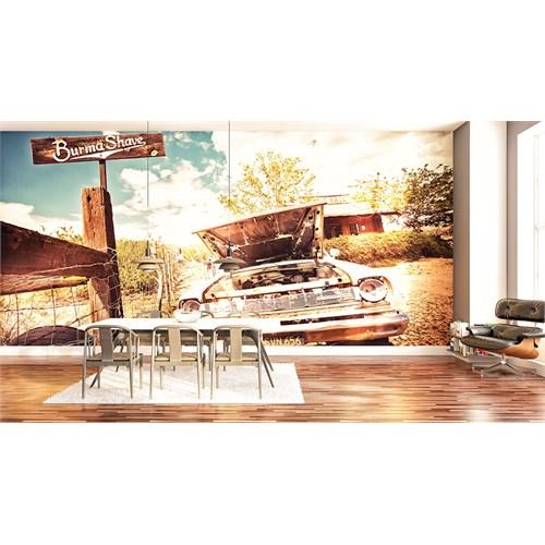 Iwall Resimli Eski Araba Duvar Kağıdı 180X130