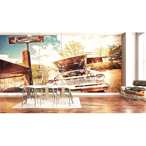 Iwall Resimli Eski Araba Duvar Kağıdı 250X180