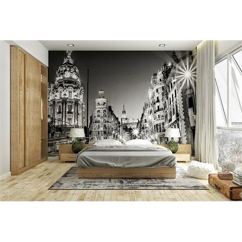 Iwall Resimli Gece Şehir Duvar Kağıdı 180X130