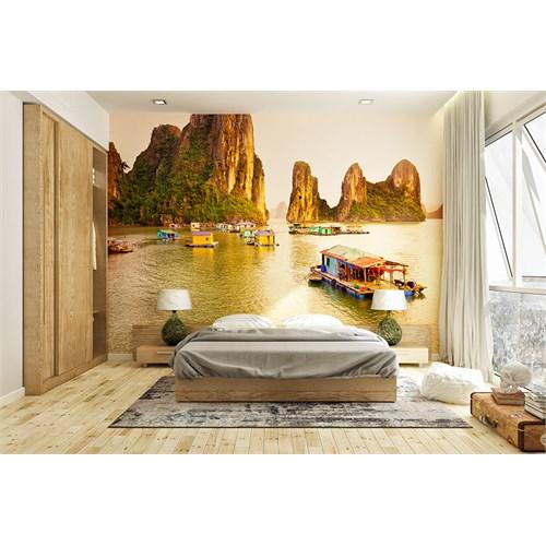 Iwall Resimli Göl Ve Dağlar Duvar Kağıdı 180X130