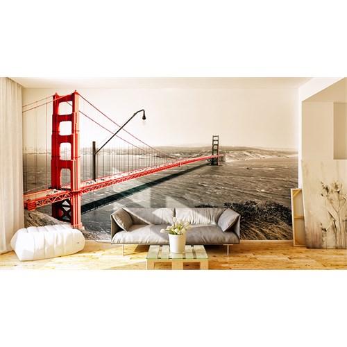 Iwall Resimli Kırmızı Köprü Duvar Kağıdı 180X130