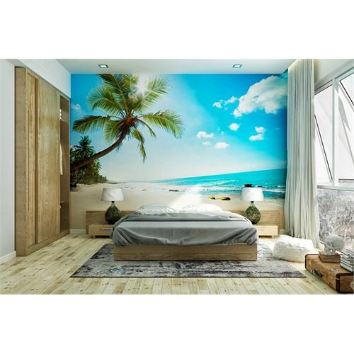 Iwall Resimli Palmiye Ve Kumsal Duvar Kağıdı 180X130