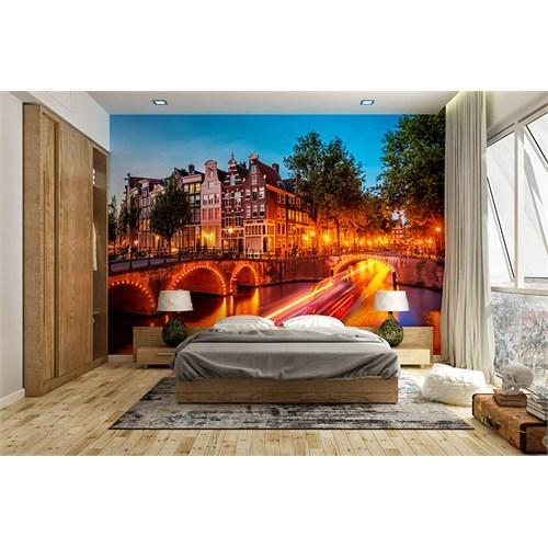 Iwall Resimli Renkli Akşam Duvar Kağıdı 370X250