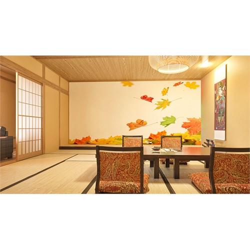 Iwall Resimli Sonbahar Yaprakları Duvar Kağıdı 250X180