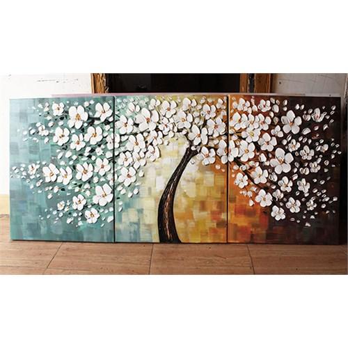 Artredgallery Üç Parça 50X120 Fineart Tablo