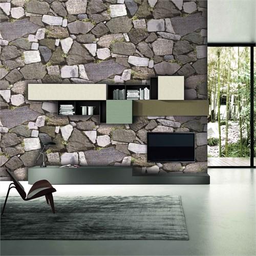 Bien Wallpaper 9260 Taş Desen Duvar Kağıdı