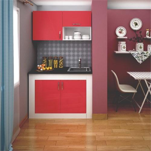 FLY 120 Cm Kırmızı Mutfak Dolabı FLY180247