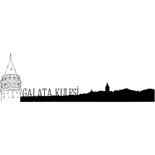 Sticker Masters Galata Kulesi Duvar Sticker