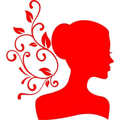 Sticker Masters Güzel Kadın Silüet Duvar Sticker