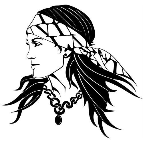 Sticker Masters Gypsy Woman Duvar Sticker