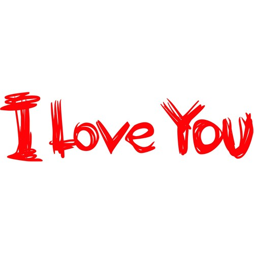 Sticker Masters I Love You Duvar Sticker