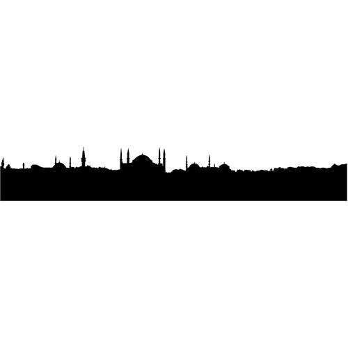 Sticker Masters İstanbul Siluet Duvar Sticker 4