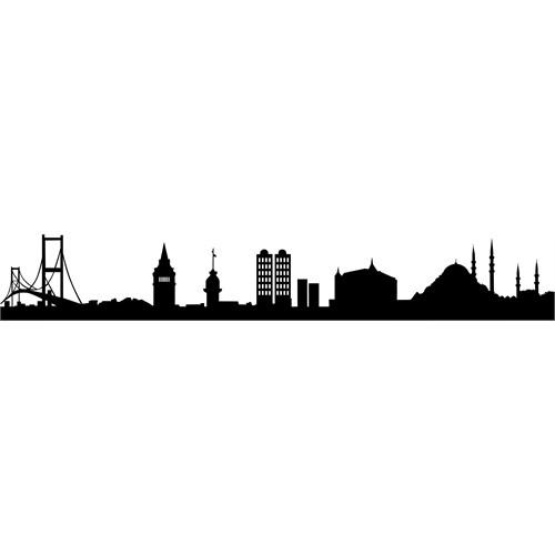 Sticker Masters İstanbul Siluet Duvar Sticker 9