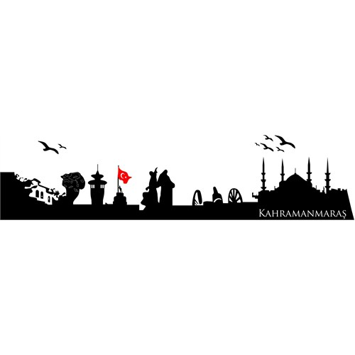 Sticker Masters Kahramanmaraş Siluet Duvar Sticker