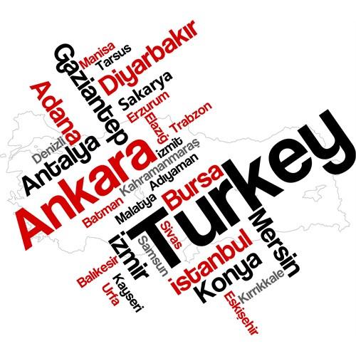Sticker Masters Türkiye Şehirleri Duvar Sticker