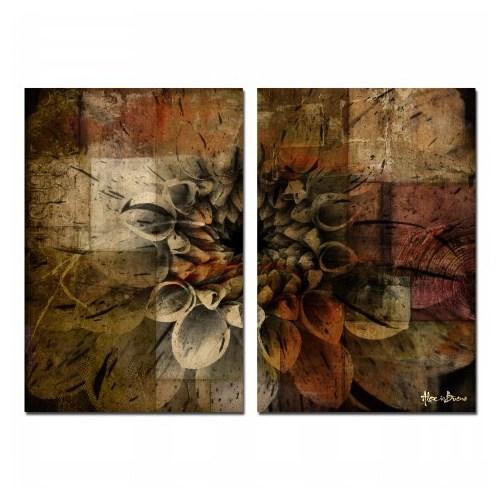 Clock Mango Multi Color Kanvas Tablo 50X35x2prc