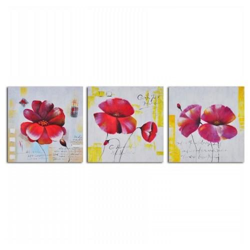 Clock Mango Multi Color Kanvas Tablo 30X30x3 Parçalı