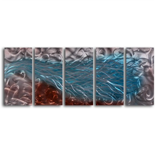 Clock Mango Multi Color Kanvas Tablo 20X40x5prc