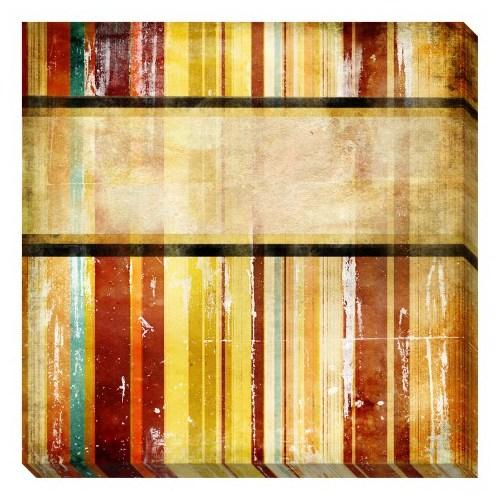 Clock Mango Multi Color Kanvas Tablo 40 Cm