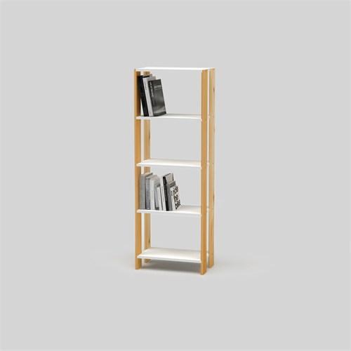 Onlywood Brige One Kitaplık Beyaz