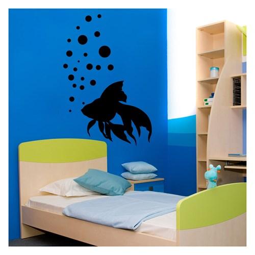Artikel Balık Kadife Duvar Sticker Dp-058 ve Tuz boyama