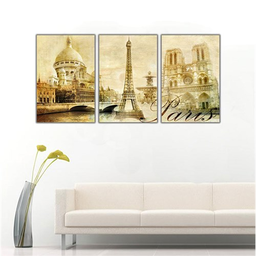 Ritmo Canvas Sepya Paris Kanvas Tablo