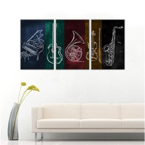 Ritmo Canvas Müzik Aletleri Kanvas Tablo