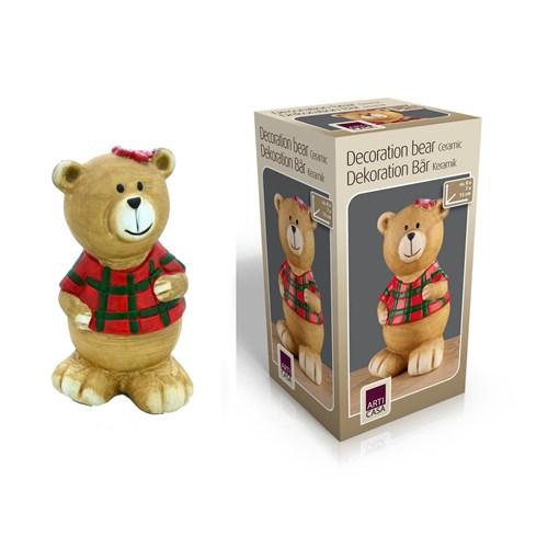 Gold Dekor Teddy Bear Biblo Seramik