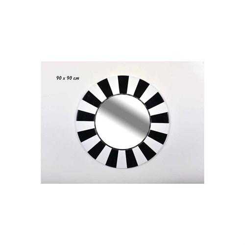 Lucky Art Siyah Beyaz Oval Duvar Aynası