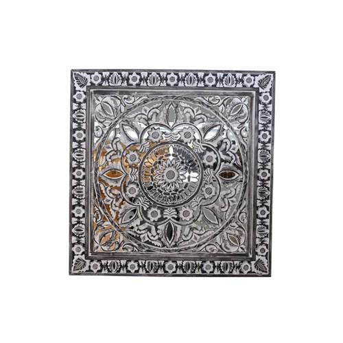 Lucky Art Ma008 Silver Ahşap Aynalı Aksesuar