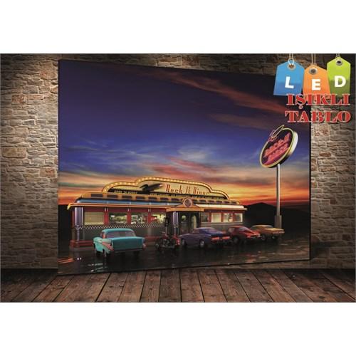 Tablo İstanbul Rossies Dinner Led Işıklı Kanvas Tablo 45 X 65 Cm